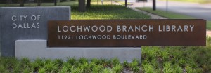 Sign for the Lochwood Library