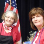 Event organizer Jeanne Guerra and Secretary Barbara St. Clair